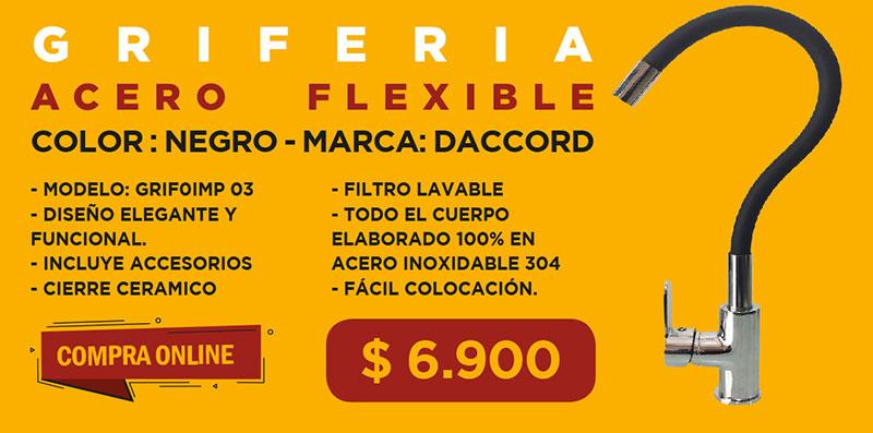 Monocomando cocina flexible Negro Grifoimp 03 DACCORD