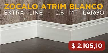 Zocalo Atrim Extra Line 100Mm 2320 X 2,5 Mt Blanco