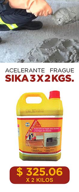 Acelerante Frague Sika 3 X 2 Kgs.