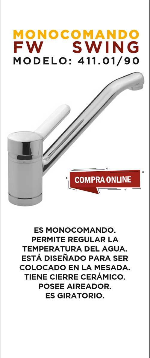 Juego Monocomando 1 Agujero FV swing 411.01/90 CR