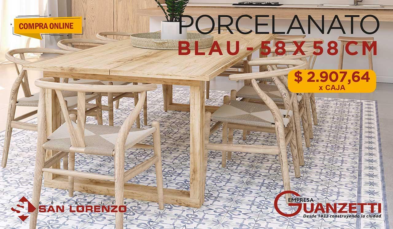Porcelanato Rectificado San Lorenzo Blau 58x58 CJ.1,35M2