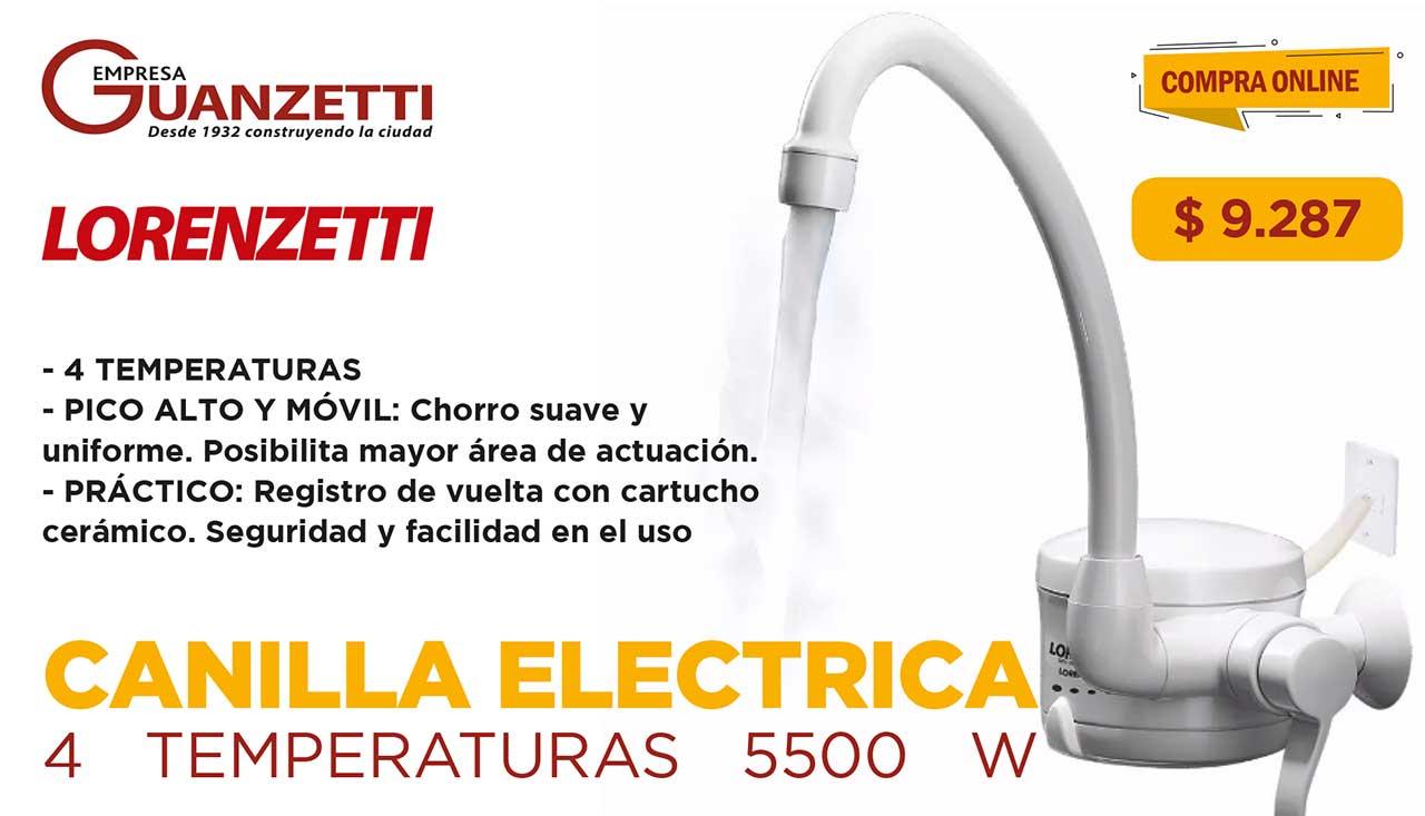 Canilla Electrica Cocina Lorenzetti Loreneasy 4 Temperat 5500 W 22380/5