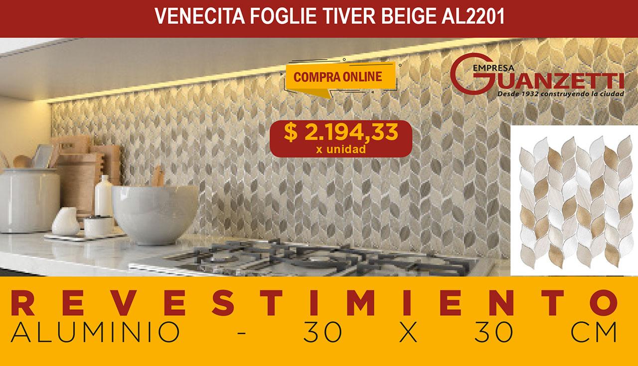 Venecita Foglie Tiver Beige Al2201 Misionesdeco