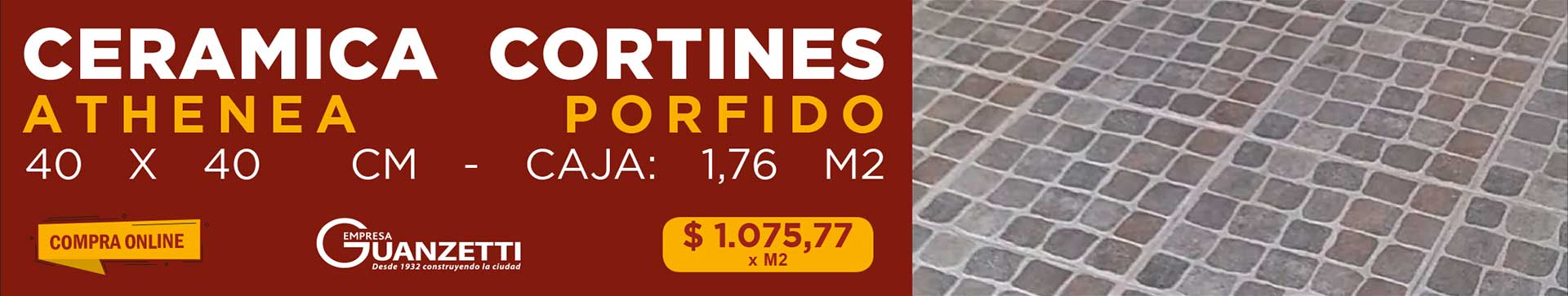 Ceramica Cortines Athenea Porfido 40X40