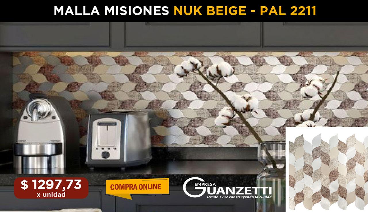 Malla misiones Nuk Beige