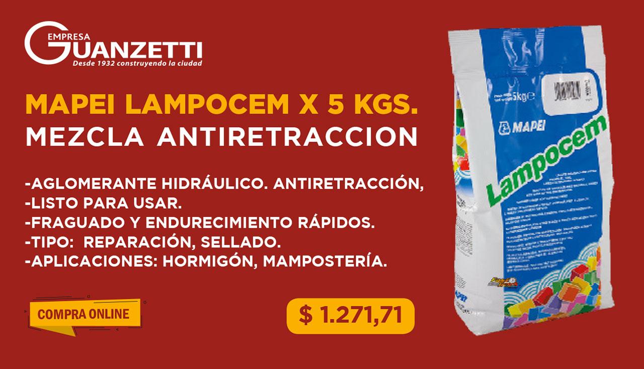 Mezcla Antiretraccion Mapei Lampocem