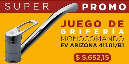 Juego Cocina Monocomando Mesada Fv Arizona 411.01/B1 Cr.