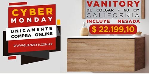 Vanitory 60cm de colgar Rivo California SI incluye mesada de losa Schneider