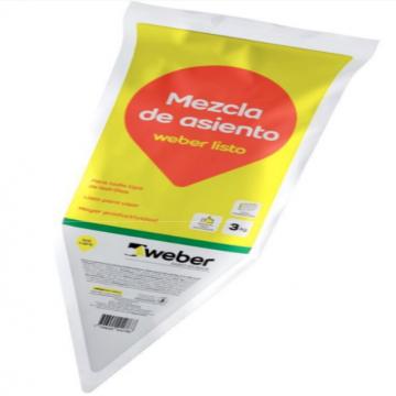 Mezcla De Asiento Weber Listo X 3 Kgs.