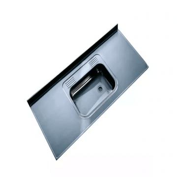 Mesada Acero Inoxidable Pileta Simple Con Respaldo Johnson  180 X 062 Izquierda Derecha