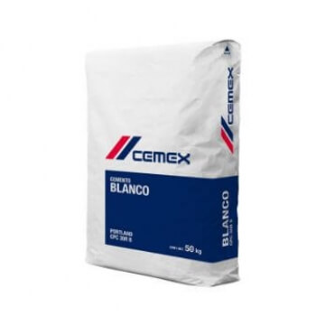 Cemento Blanco Cemex 25 Kgs.