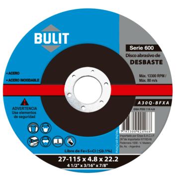 Disco Abrasivo Erpa Desbaste 115X4.8X22.2