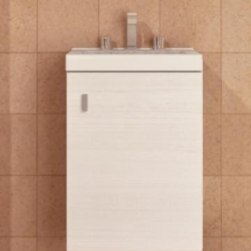 Vanitory Colgante 40 Cm Basic Blanco Texturado Terra NO incluye mesada Schneider