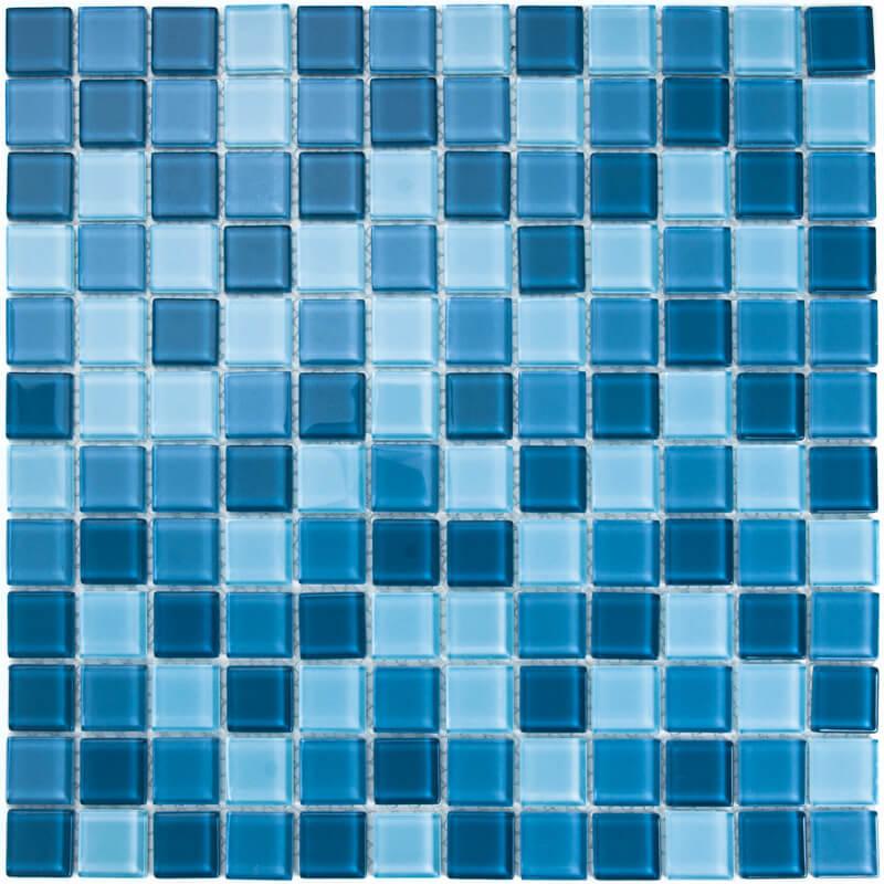 Malla Misiones Vidrio  Azul Traful 30 X 30 V0012
