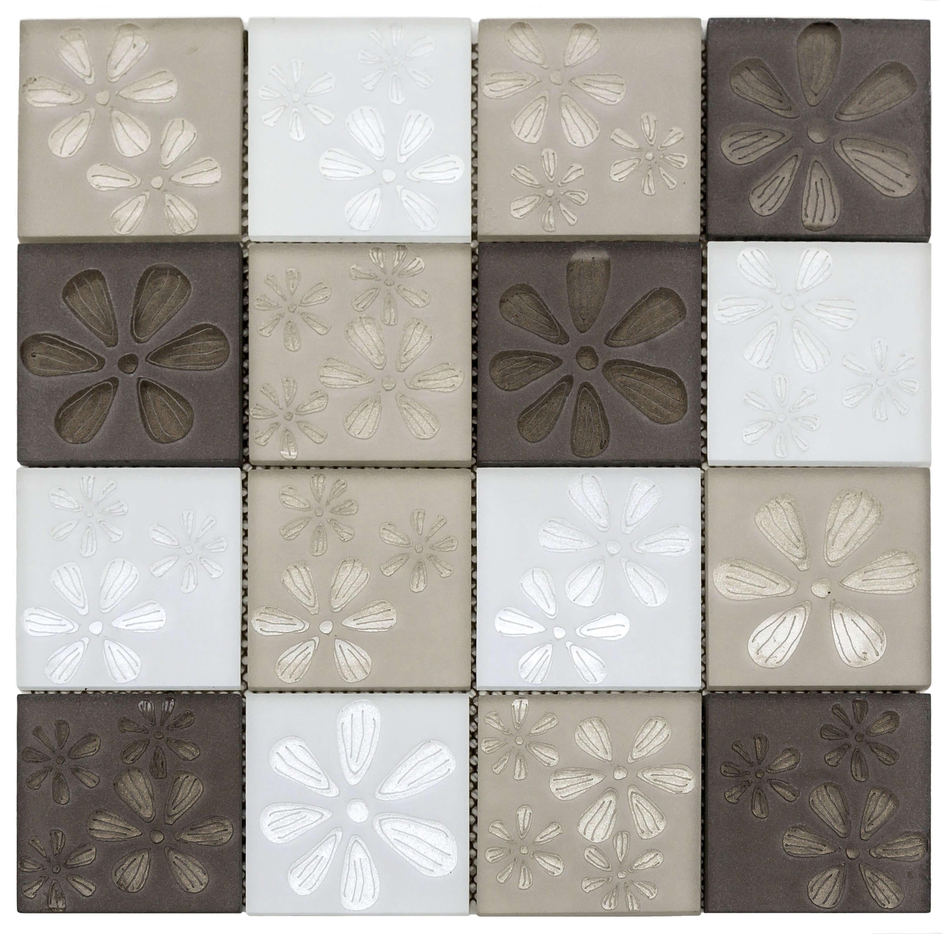 Malla Misiones Blumen Beige Mix Vv5204 30 X 30
