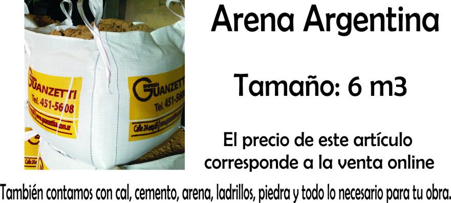 Arena Argentina Suelta X 6 M3