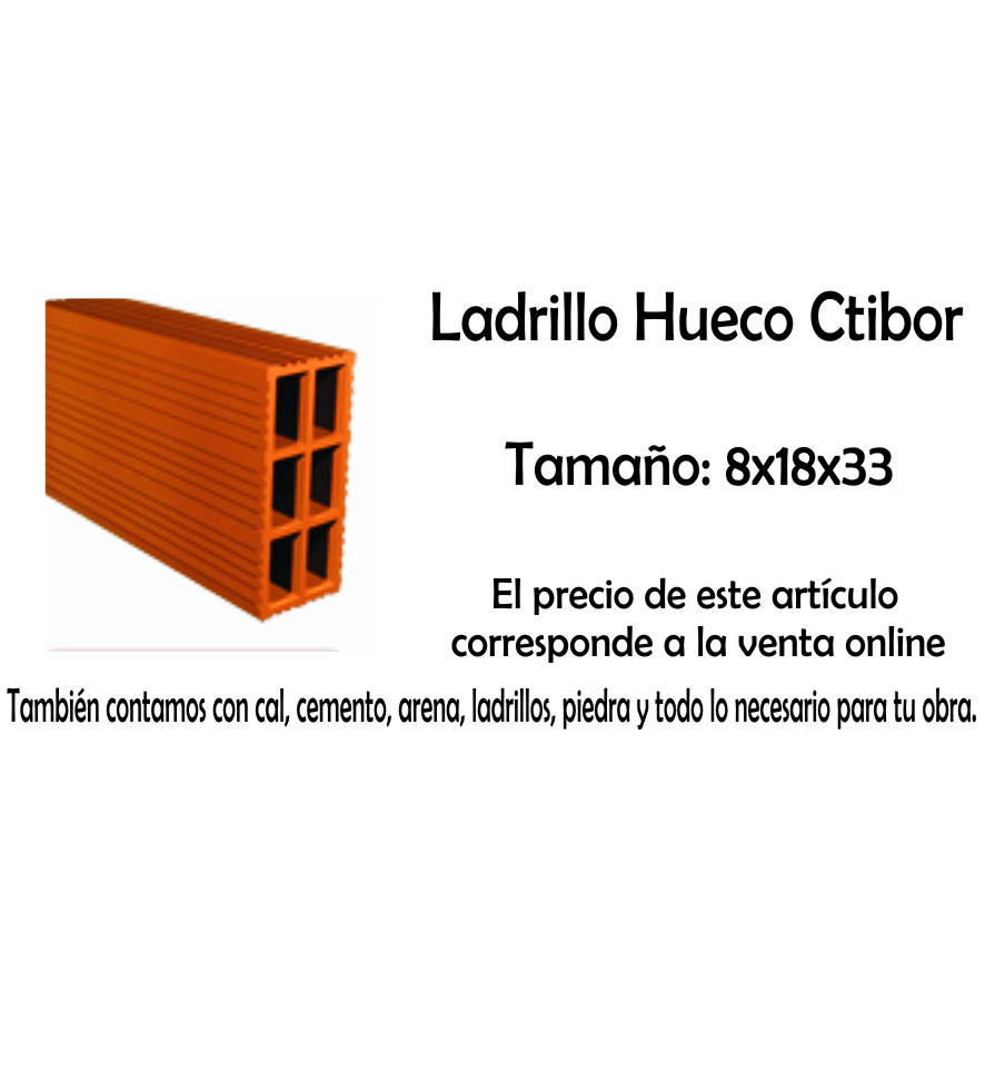 Ladrillo Hueco Ctibor X Pallet (216) 8 X 18 X 33