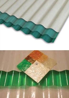 Chapa Plastica  2,70 Mts X 1,10 Mts Verde