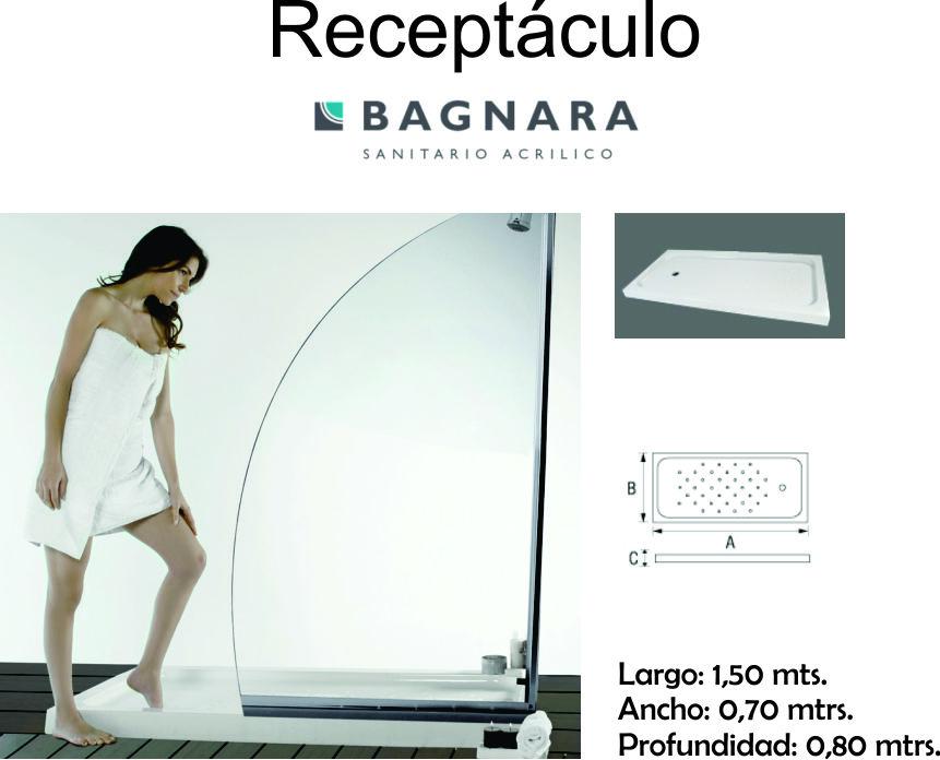 Receptaculo Bagnara  1500 X 700 X 80