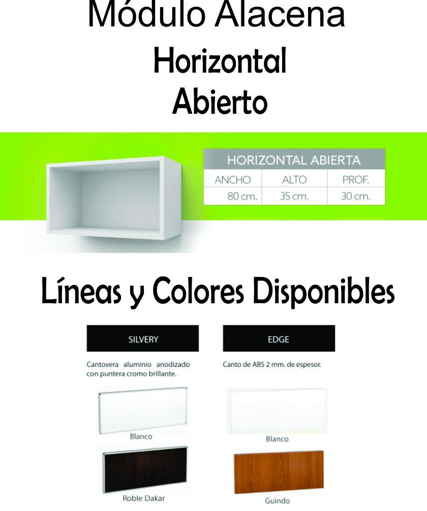 Alacena Abierta Itar Horizontal 60 Cm