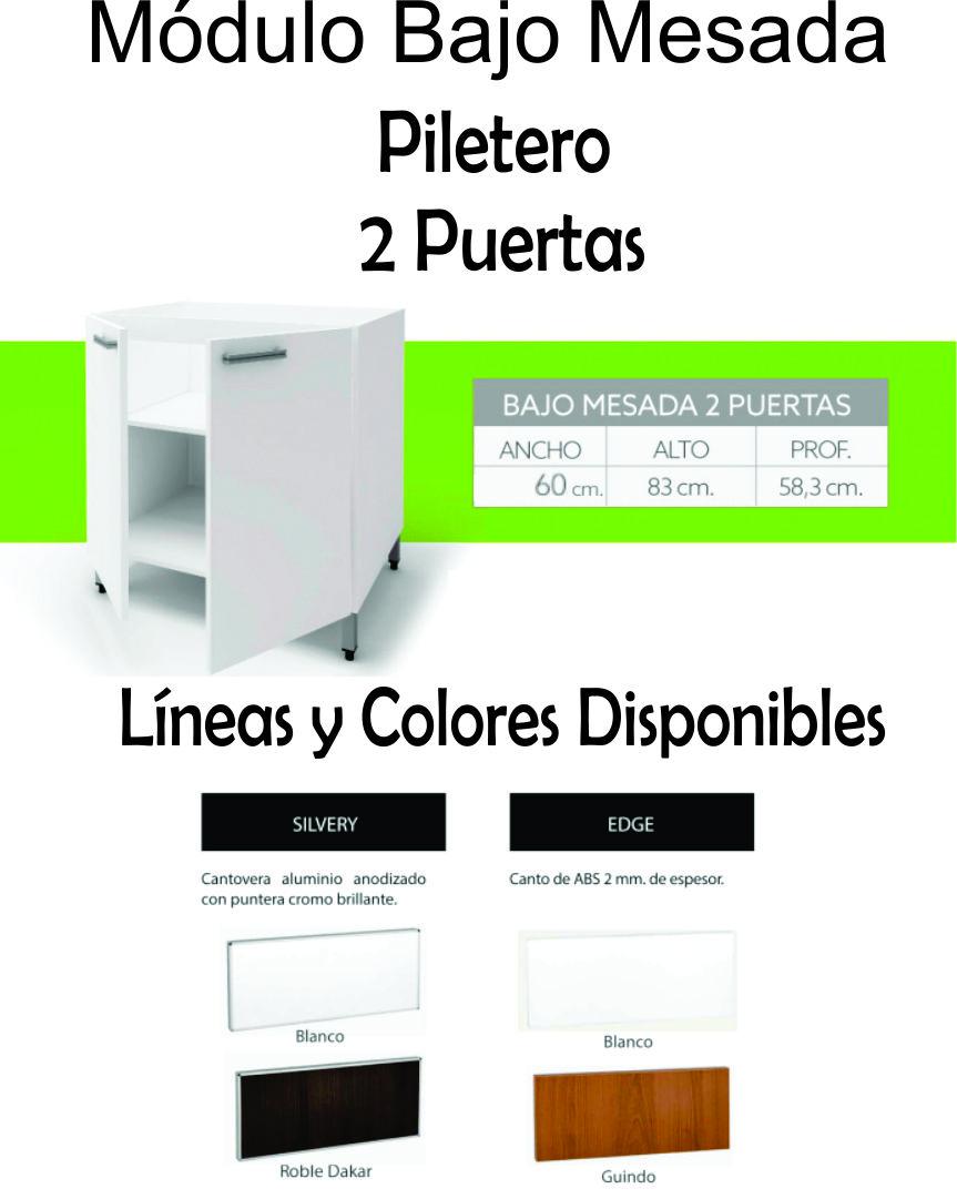 Bajo Mesada Itar Edge 0,60 2 Puertas Blanco