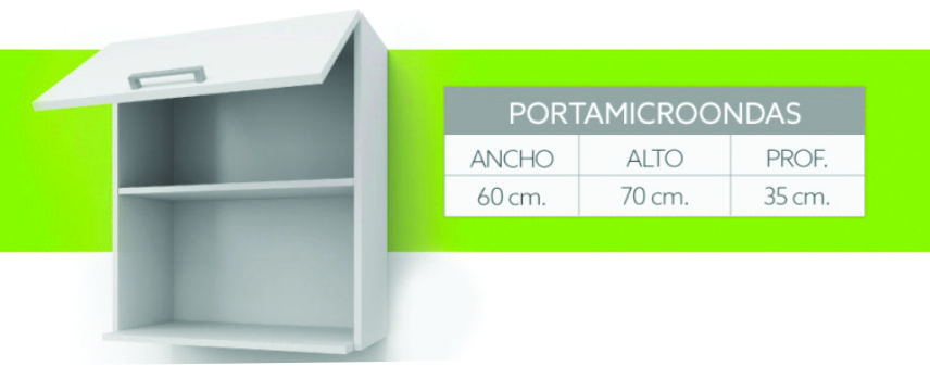 Alacena Porta Microondas Itar Edge 60X70X35 Guindo
