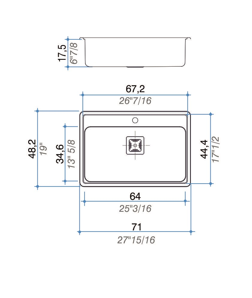 Pileta Simple Johnson Quadra Max Q71 A