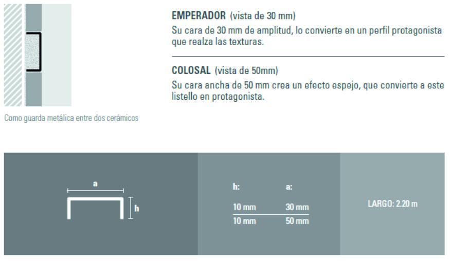 Varilla Listello Acero Atrim 430/05 Esmerilado 50 Mm Colosal