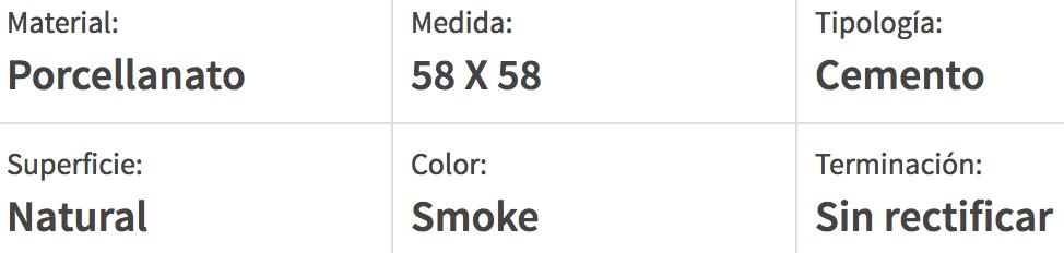 Porcelanato Esmaltado San Lorenzo Bauhaus Smoke 58X58 Cj.1,35