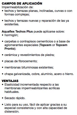 Membrana Liquida Mapei Aquaflex Techos Plus X 20 Kgs