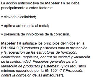 Mortero Cementicio Mapei Mapefer 1K X 5 Kgs.