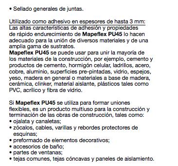 Sellador Mapei Mapeflex Pu 45 X 300 Ml Negro