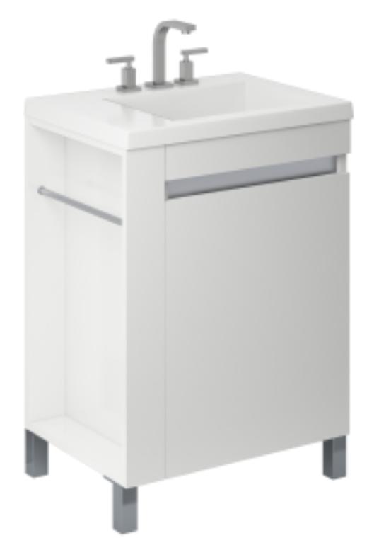 Vanitory 60 Cm Laqueado Blanco Brillante Aqua NO incluye mesada Schneider