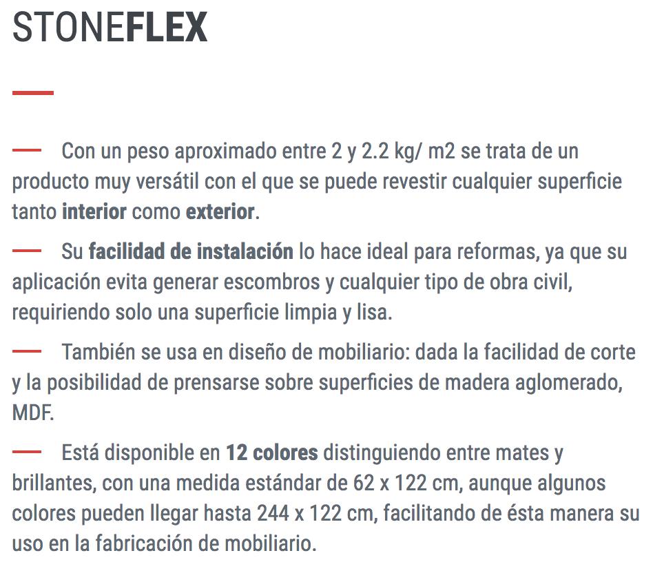 Placa Piedra Stoneflex El M2 62 X 122 Multiline