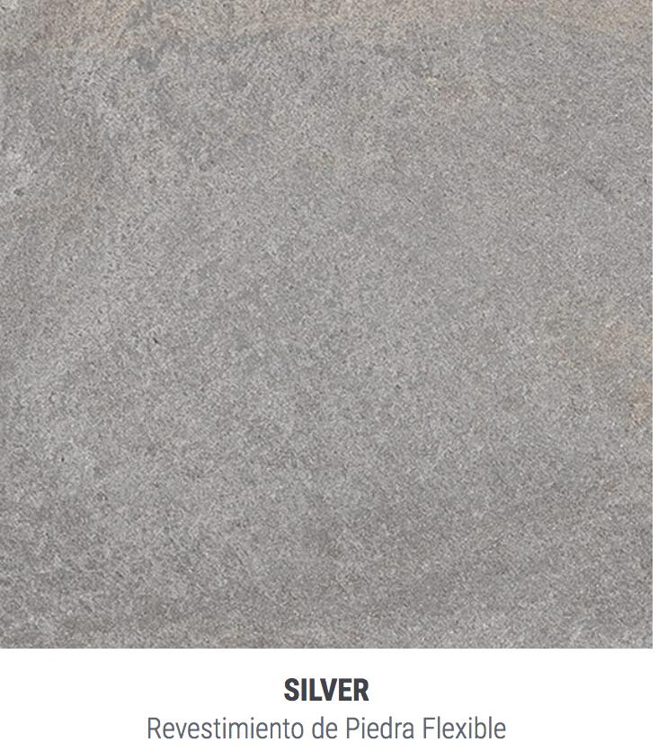 Placa Piedra Stoneflex El M2 62 X 122 Silver