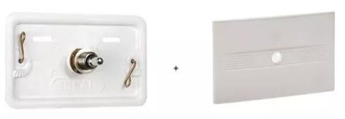 Tapa Ideal Inspección Plastica Con Pulsador Cromado