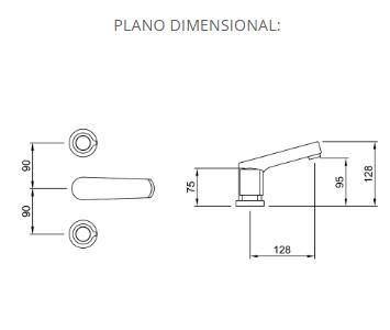 Juego Lavatorio Peirano Oviedo 60-120 Cr