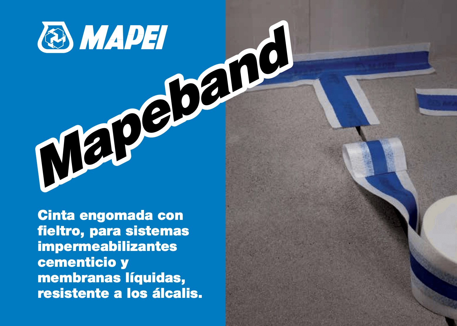 Rollo Mapei Mapeband 10 Mt X 12 Cm