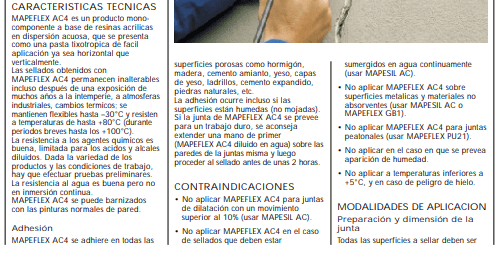 Sellador Mapei Mapeflex Ac4 X 310 Ml Blanco