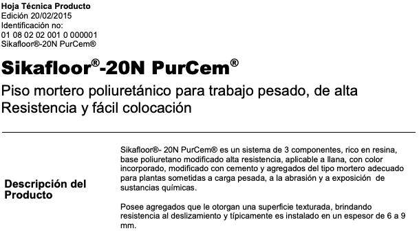 Sikafloor N Purcem Ral 7046 A+ 4 Kgs. Sika