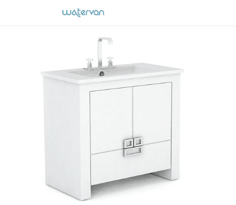 Vanitory Water Van City New 70 Con Mesada Loza Blanco