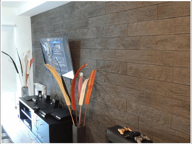 Revestimiento De Cemento Kebracho Siena Cj X 0,36 M2