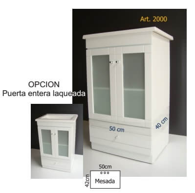 Vanitory Del Val 2000 50 Cm Blanco