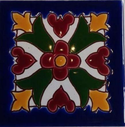Azulejo Pintado A Mano Estilo Español 15X15 Cm Pared O Piso