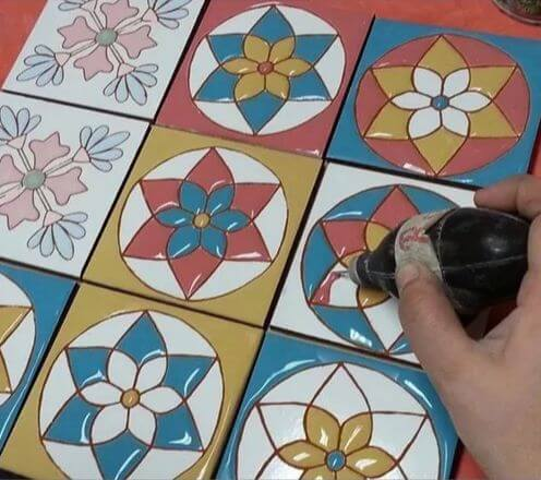 Azulejo Pintado A Mano Estilos Español 15X15 Cm Pared O Piso