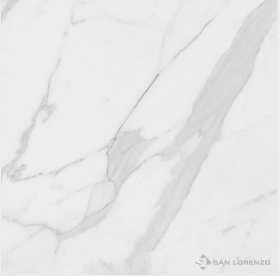 Porcelanato Calacata Pulido Bianco 56,7X56,7 Ceramica San Lorenzo