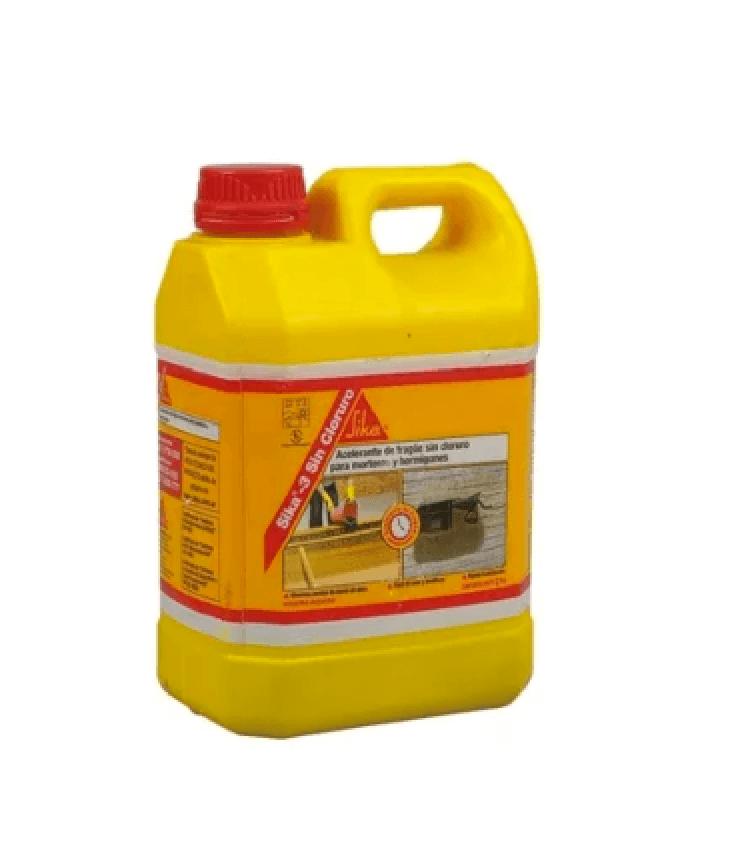 Sika 3 Sin Cloruro Bidon X 6 Kgs Acelerante Frague