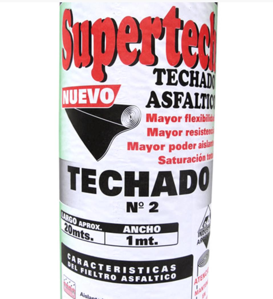 Fieltro Asfaltico Supertech Nro. 2 X 20 Mts
