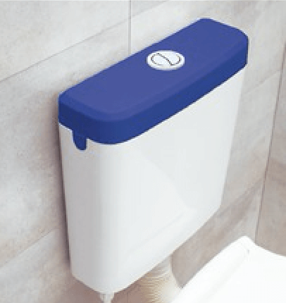 Mochila Para Baño Ideal Tapa Color Azul Ultra Chata 92020