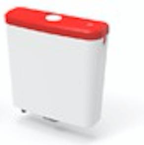 Mochila Para Baño Ideal Tapa Color Roja Ultra Chata 92020